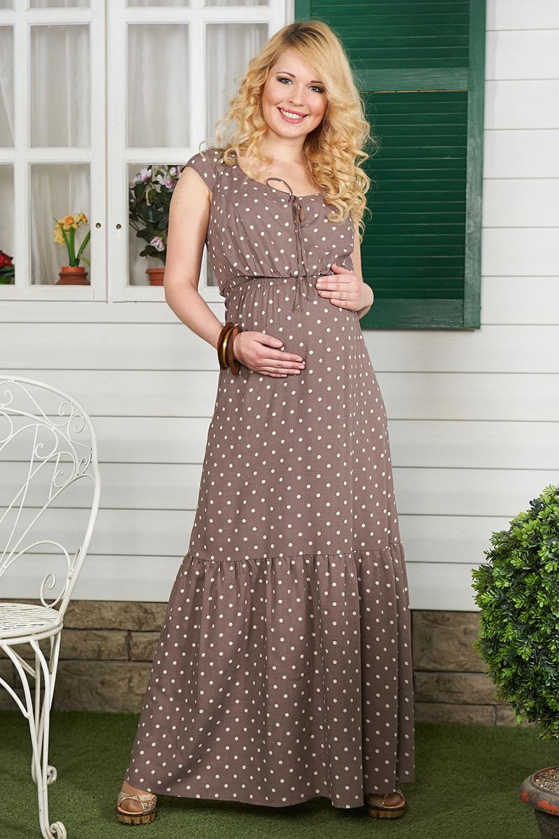 Длинное платье для беременных – фото новинки сезона