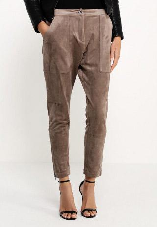 Бархатные бежевые брюки Bcbgmaxazria