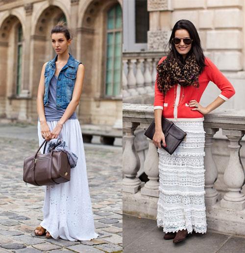 Длинные юбки макси фото