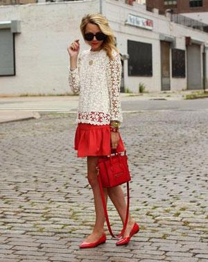 Красная юбка фото – с чем носить красную юбку?