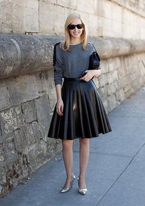 Юбка в складку – фото: кому подходит юбки в складку?