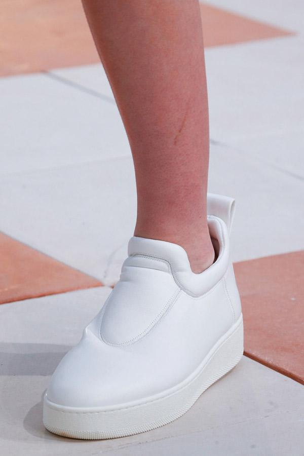 Белые модные туфли кеды 2016 фото Céline