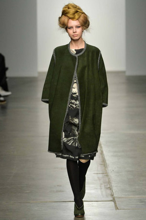 Зеленое пальто осень—зима 2015-2016