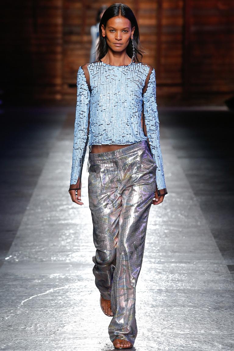 Модная блестящая кофта 2016 – фото коллекции Emilio Pucci
