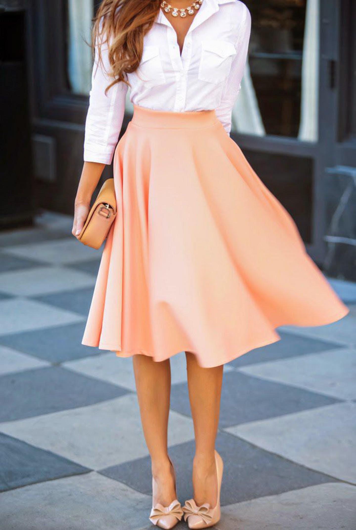 Модная в 2016 году юбка солнце