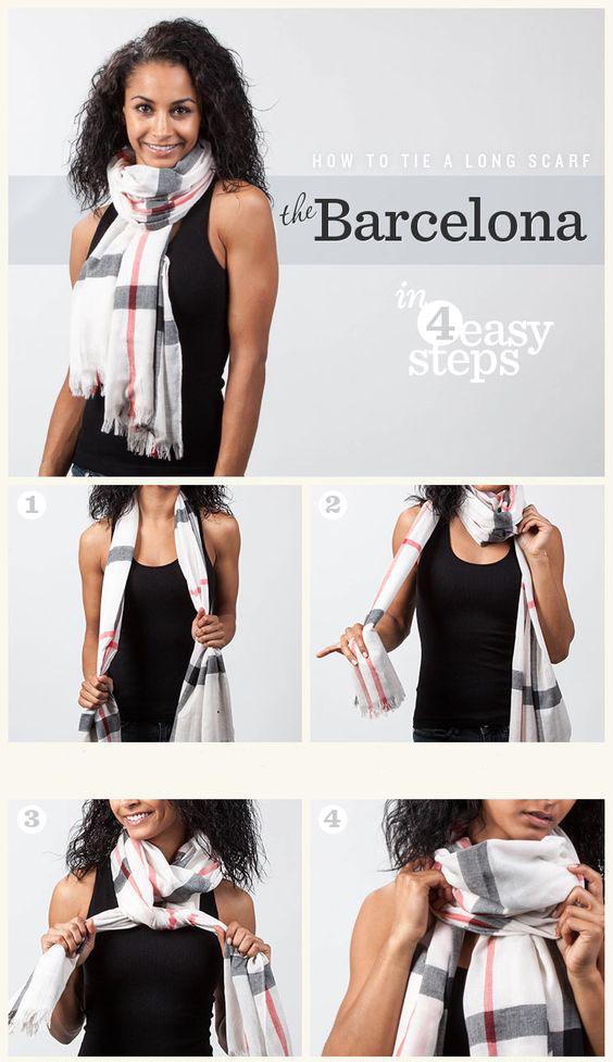 Как красиво завязывать платок, чтобы он не спадал новые фото