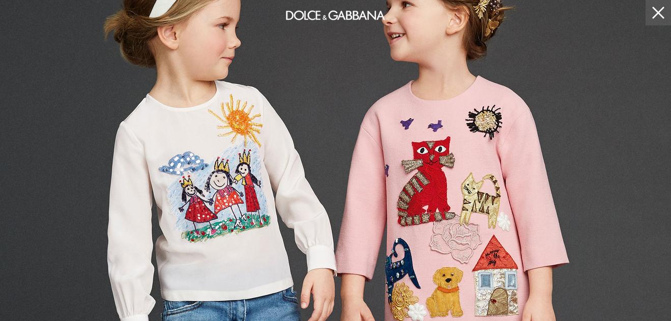 Dolce & Gabbana 2016 для девочек