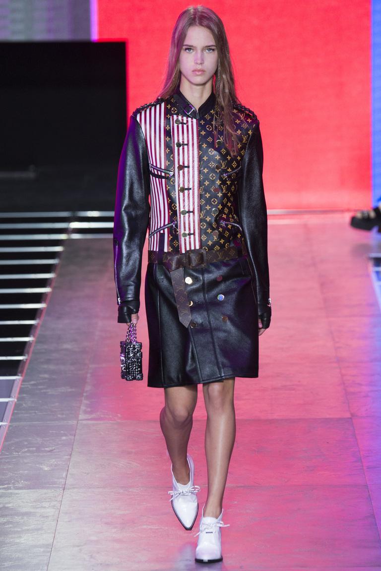 Модное кожаное пальто 2016 фото Louis Vuitton
