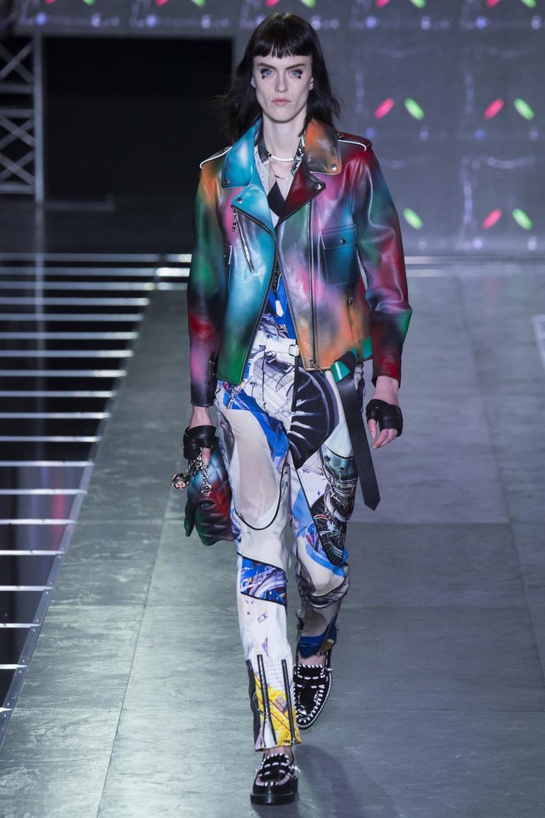 Цветная кожаная куртка 2016 – фото Louis Vuitton