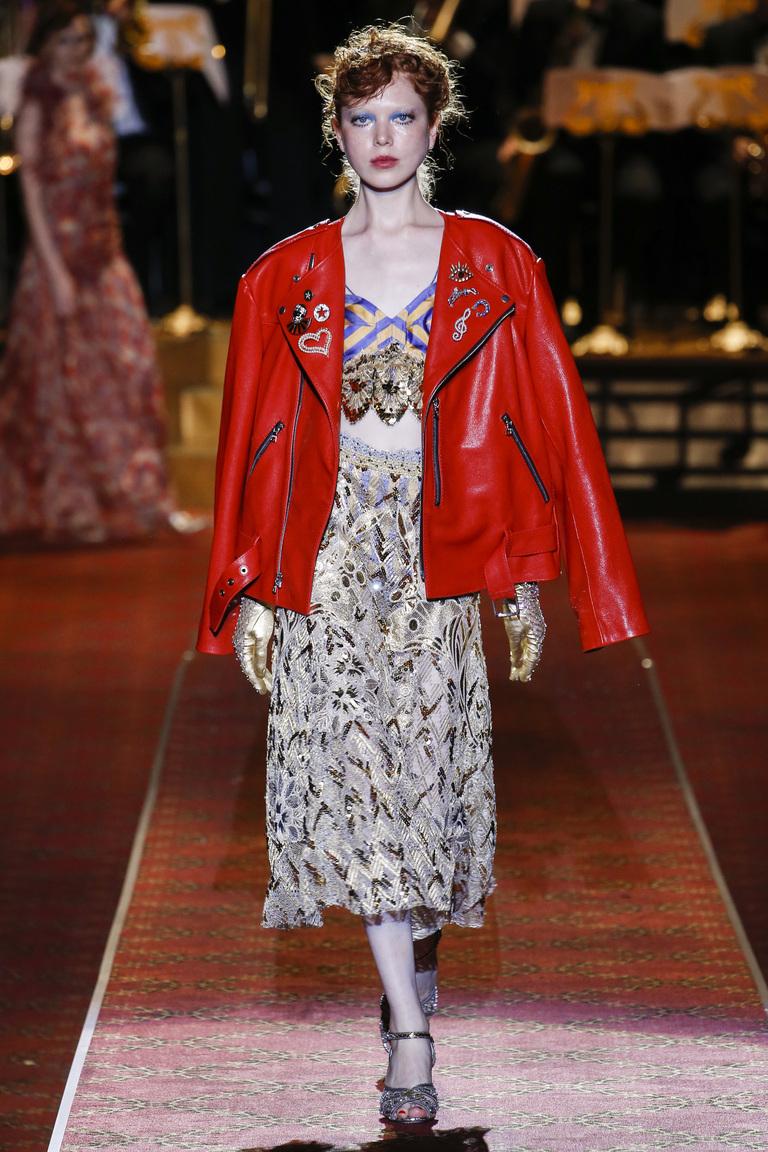 Красная модная кожаная куртка 2016 – фото коллекции Marc Jacobs