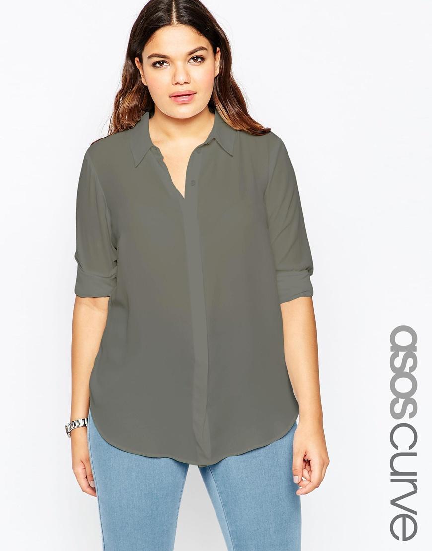 Мода 2016 для полных женщин: джинсы и блузка ASOS CURVE, цена 3 294,11 руб.