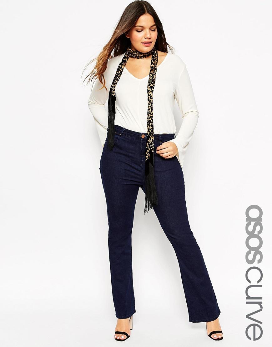 Мода для полных женщин 2016: расклешенные брюки больших размеров ASOS CURVE, цена 4 117,63 руб.