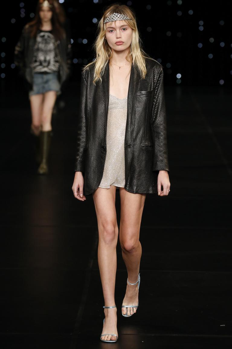 Кожаный пиджак 2016 – фото Saint Laurent
