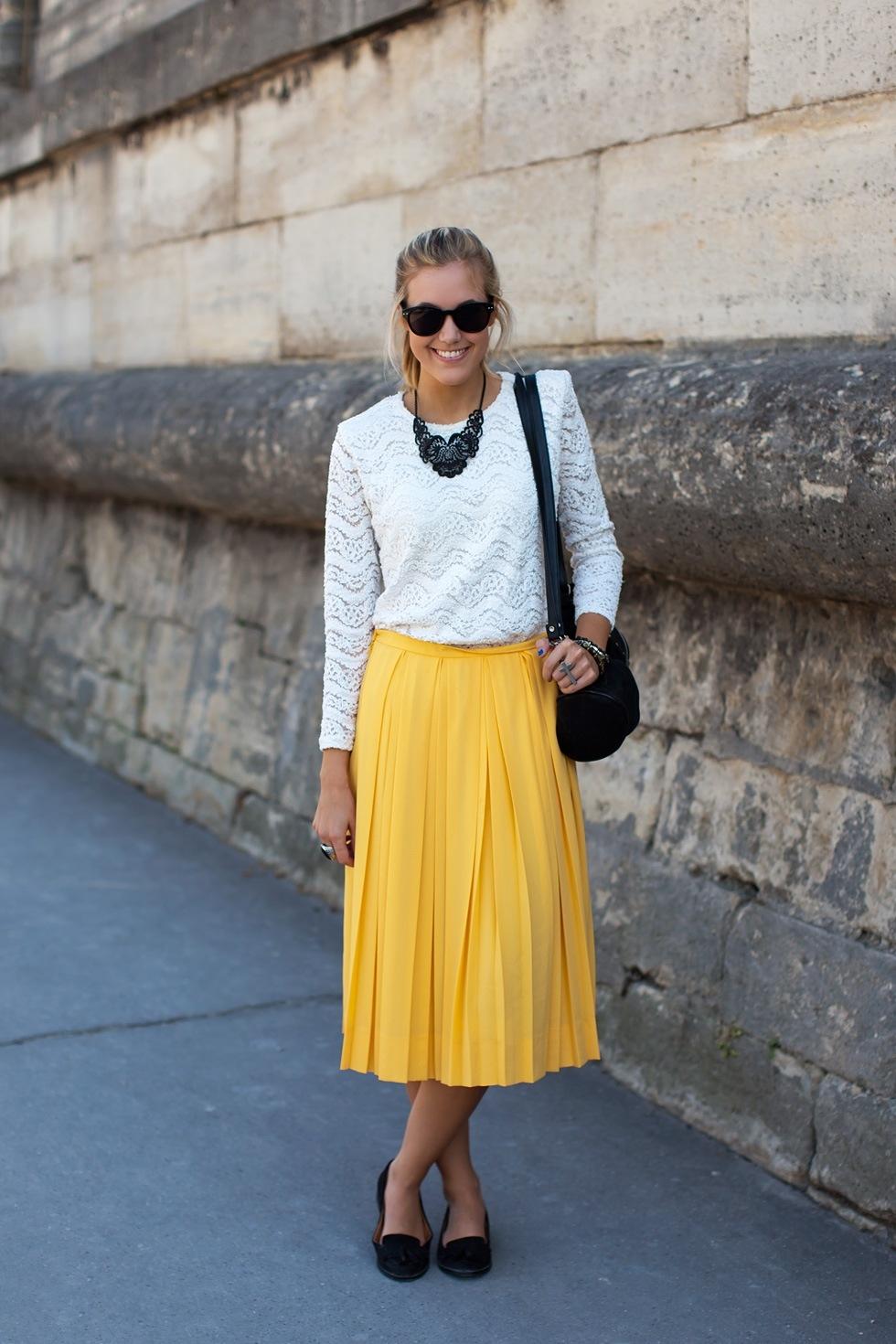 Желтая модная юбка 2016 - фото новинки и тренды сезона