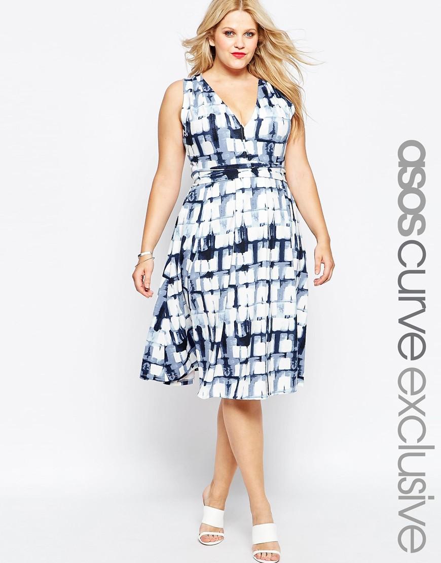 Платье 2016 для полных женщин с модным узором - ASOS CURVE, цена 4 470,57 руб.