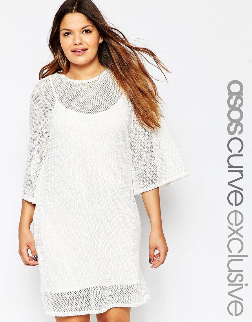 Белое платье 2016 для полных женщин - ASOS CURVE, цена 3 294,11 руб.