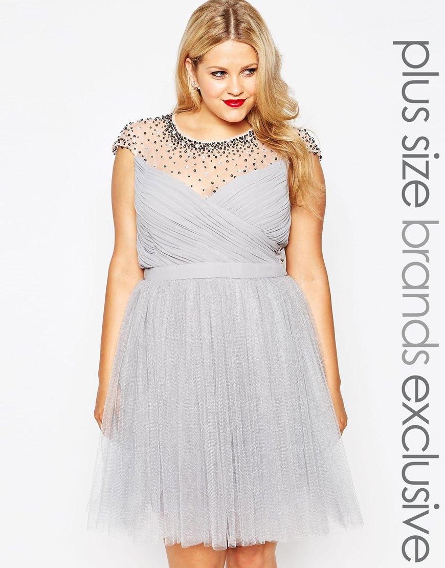 Вечернее платье для полных женщин - Little Mistress Plus, цена 8 823,50 руб.