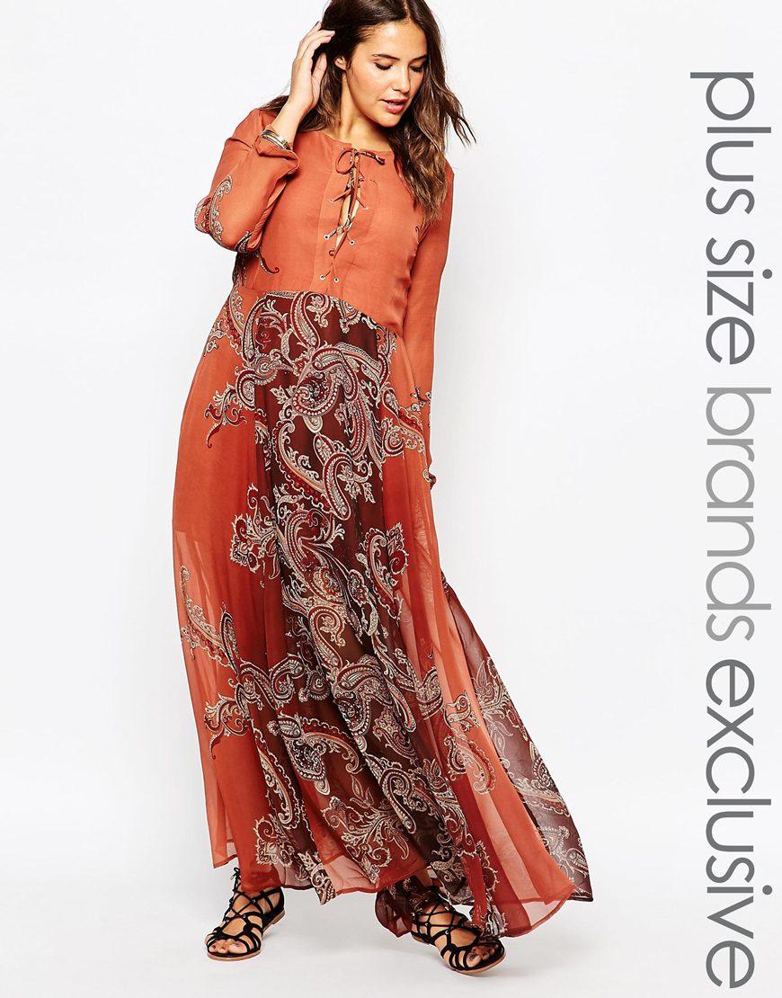 Длинное оранжевое платье 2016 для полных женщин - Alice & You, цена 5 294,10 руб.