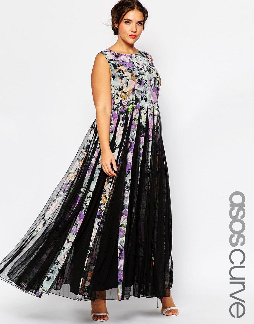 Длинное платье 2016 для полных женщин - ASOS CURVE, цена 8 823,50 руб.