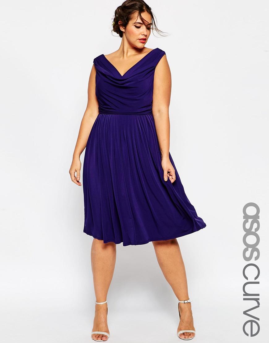 Модное синее платье больших размеров - ASOS CURVE WEDDING, цена 5 647,04 руб.