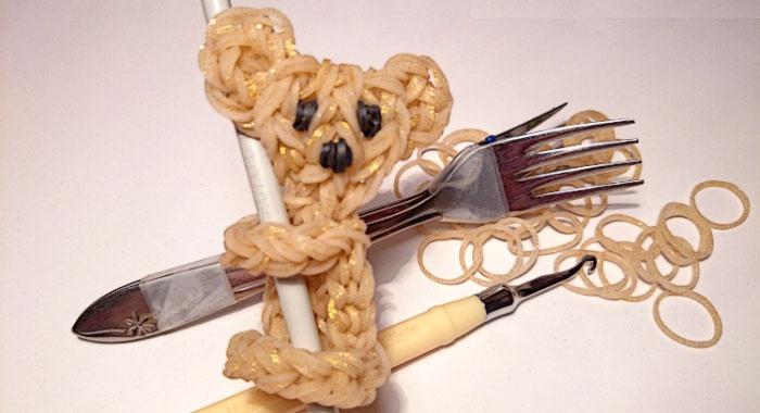 Плетение на вилке – коала