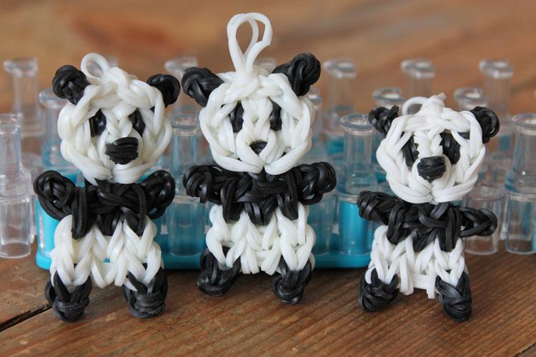 Плетение панд из резинок