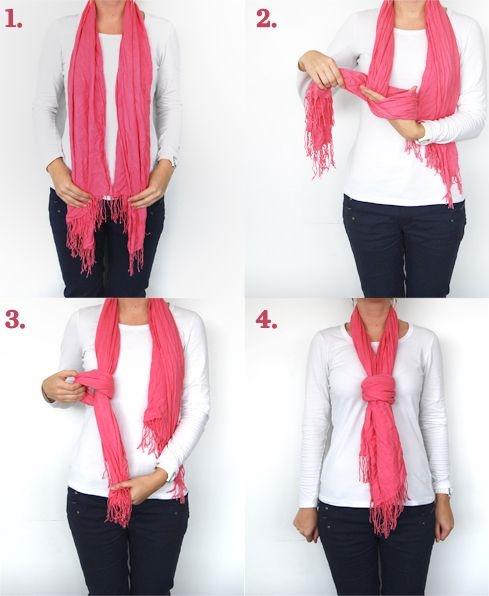 Как красиво завязывать платок, чтобы он не спадал изоражения