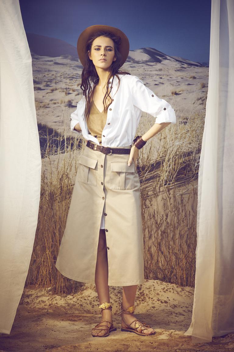 Модная длинная юбка 2016 с пуговицами в стиле сафари – A LA RUSSE Anastasia Romantsova