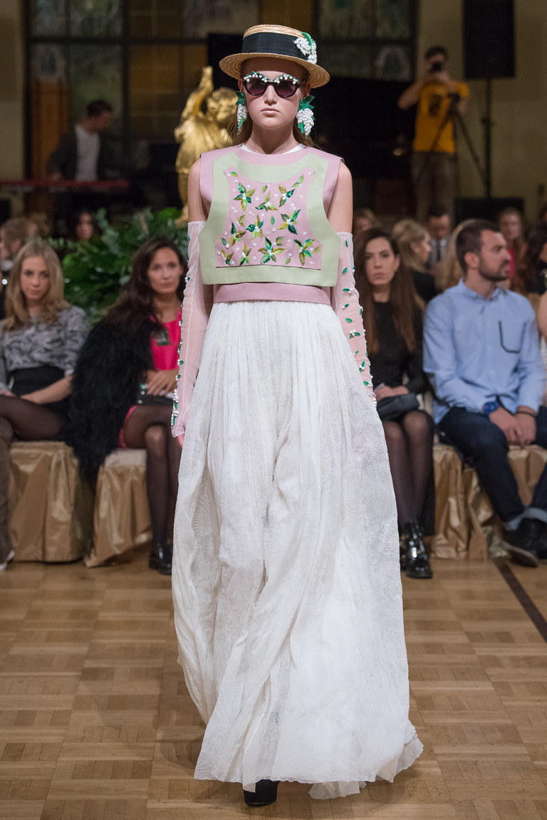 Белая длинная юбка 2016 – фото новинка Alexander Arutyunov