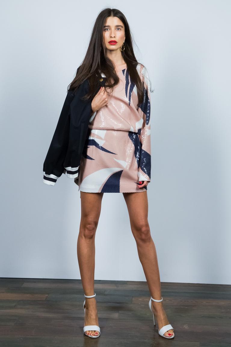 Короткое платье 2016 с геометрическим узором – фото новинка в коллекции Alexander Terekhov
