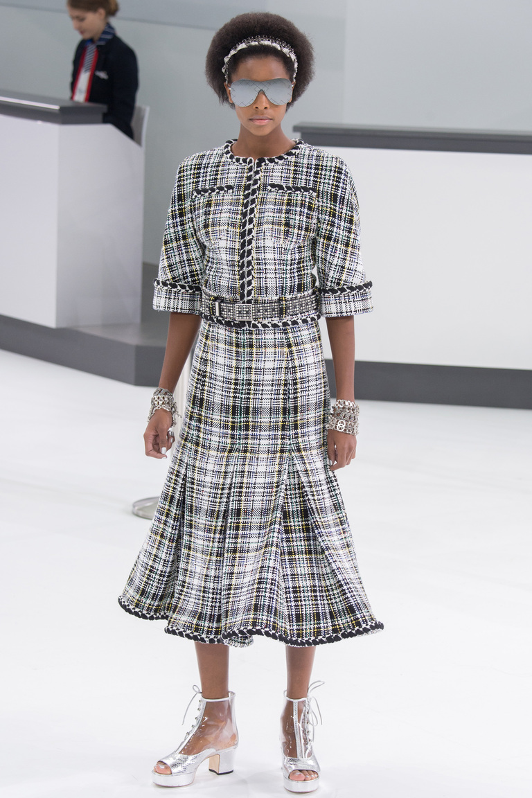 Модная юбка в крупную клетку 2016 – фото новинка от Chanel