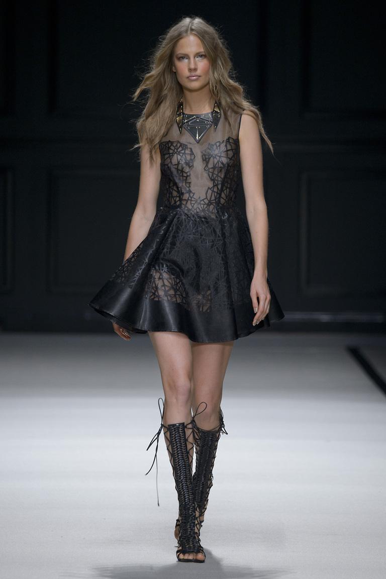 Интересная модель модного коктейльного платья 2016 – фото новинки в коллекции Elisabetta Franchi