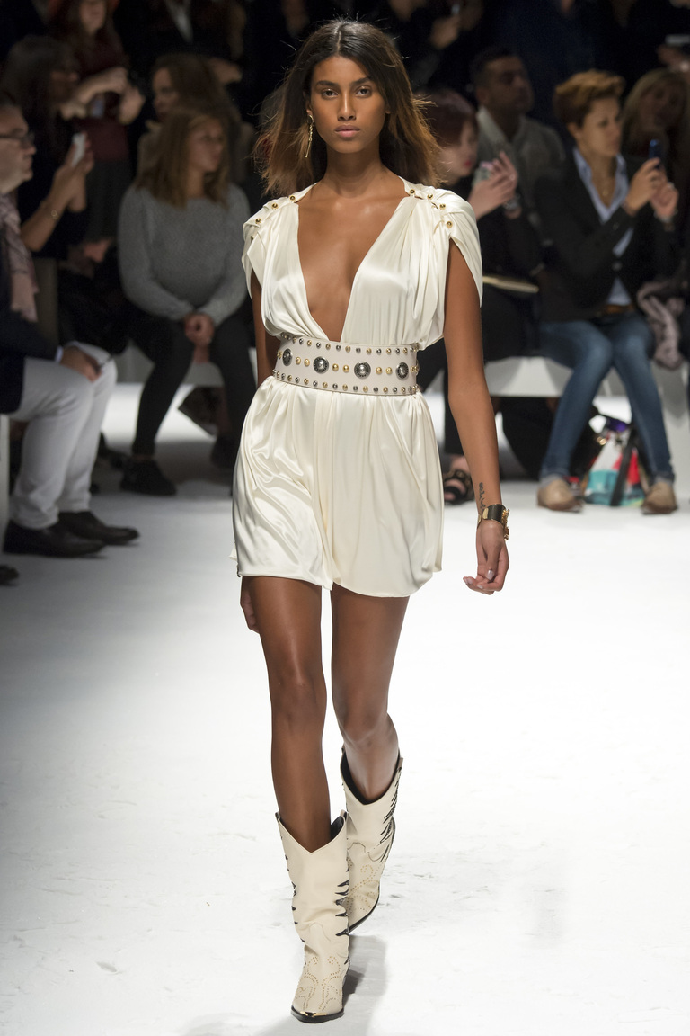 Короткое модное белое платье 2016 – фото новинка от Fausto Puglisi