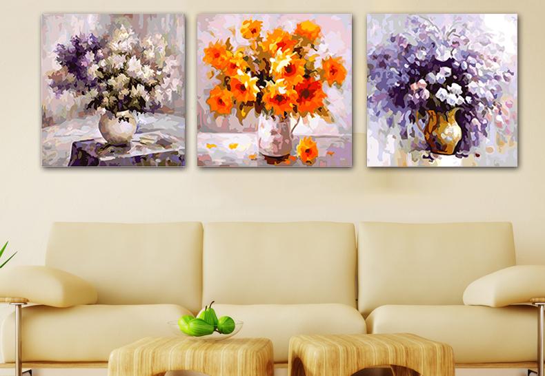 Модульные картины своими руками с цветами