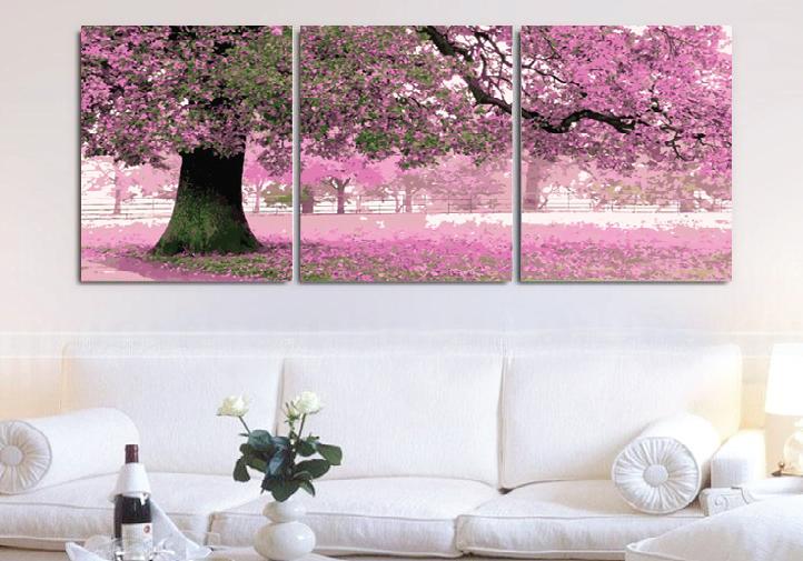 Модульные картины своими руками с розовым деревом