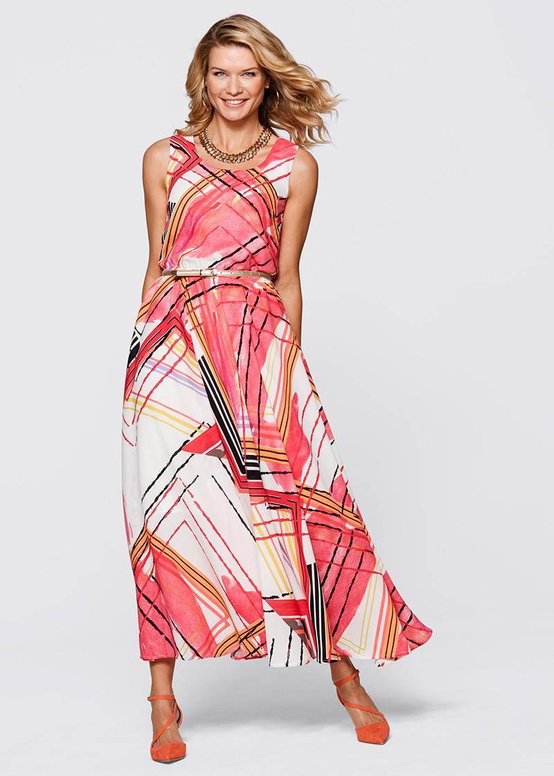 Платья с геометрическими узорами