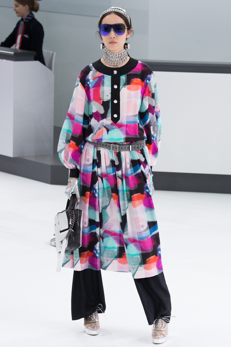 Модное платье в клетку 2016 – фото новинка в коллекции Chanel