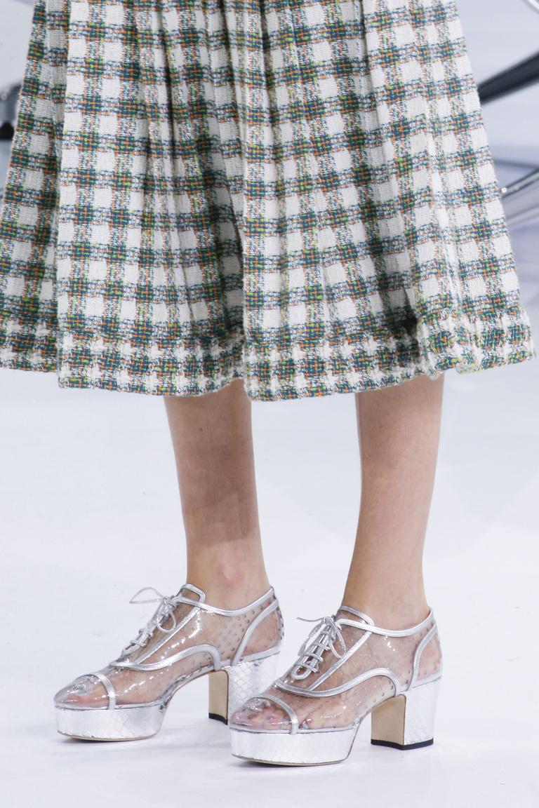 Прозрачная модная женская обувь 2016 – фото новинка в коллекции Chanel