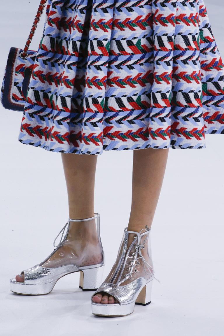 Необычная прозрачная обувь 2016 – фото новинка в коллекции Chanel