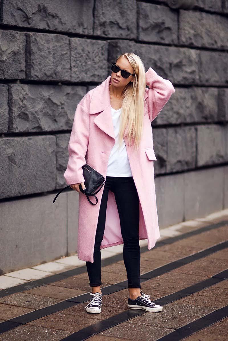 Обзор: кеды конверсы с розовым пальто