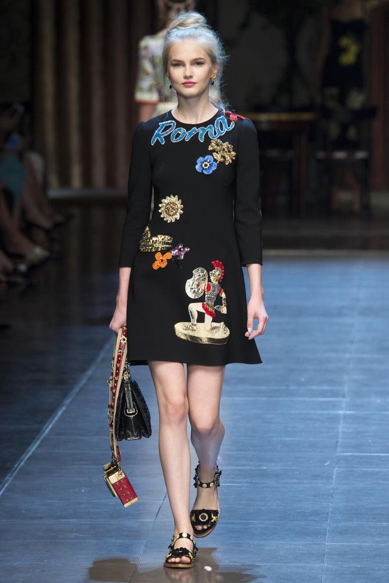 Модное черное платье 2016 – фото новинки от Dolce & Gabbana