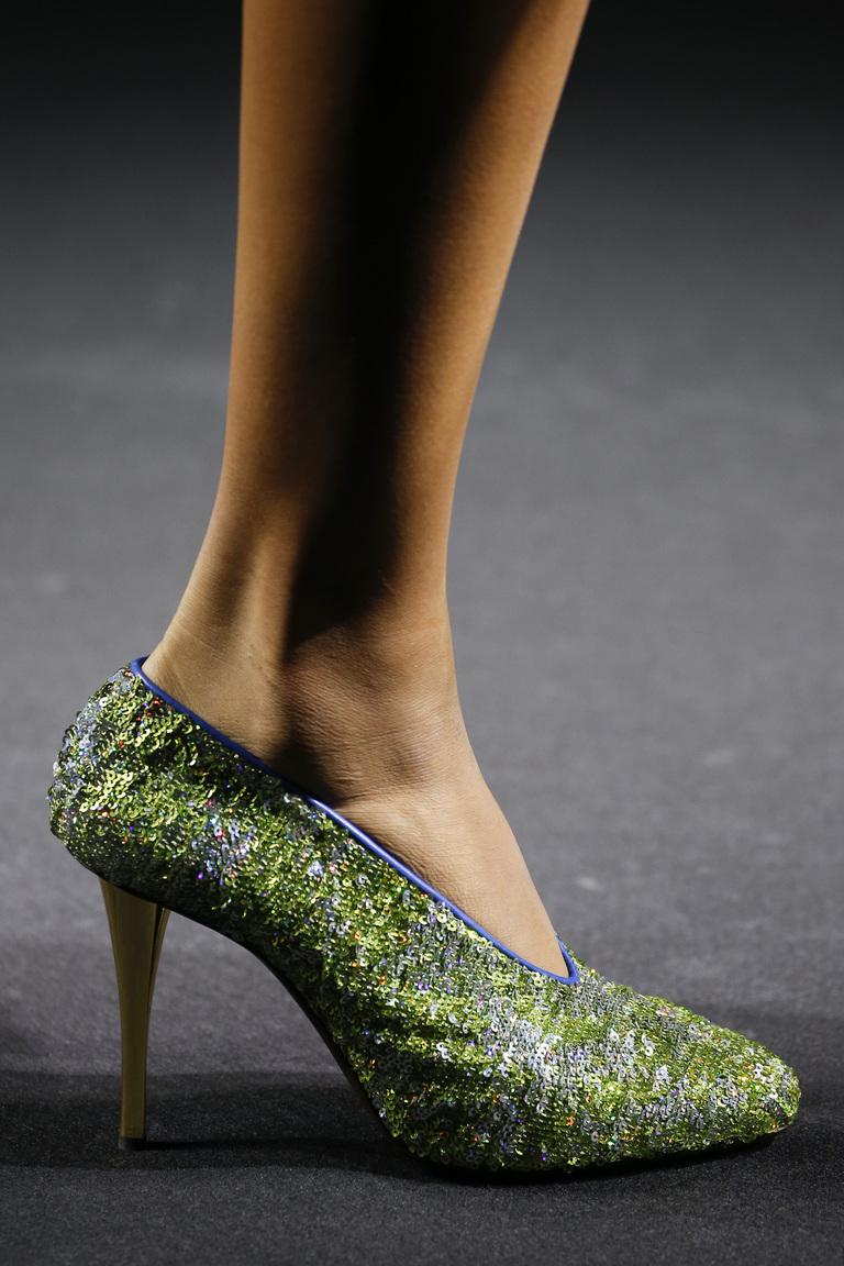 Зеленая модная обувь 2016 – фото новинка в коллекции Lanvin
