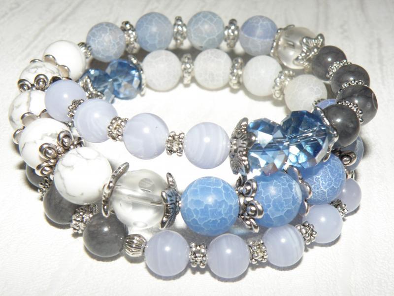 Голубой агат камни