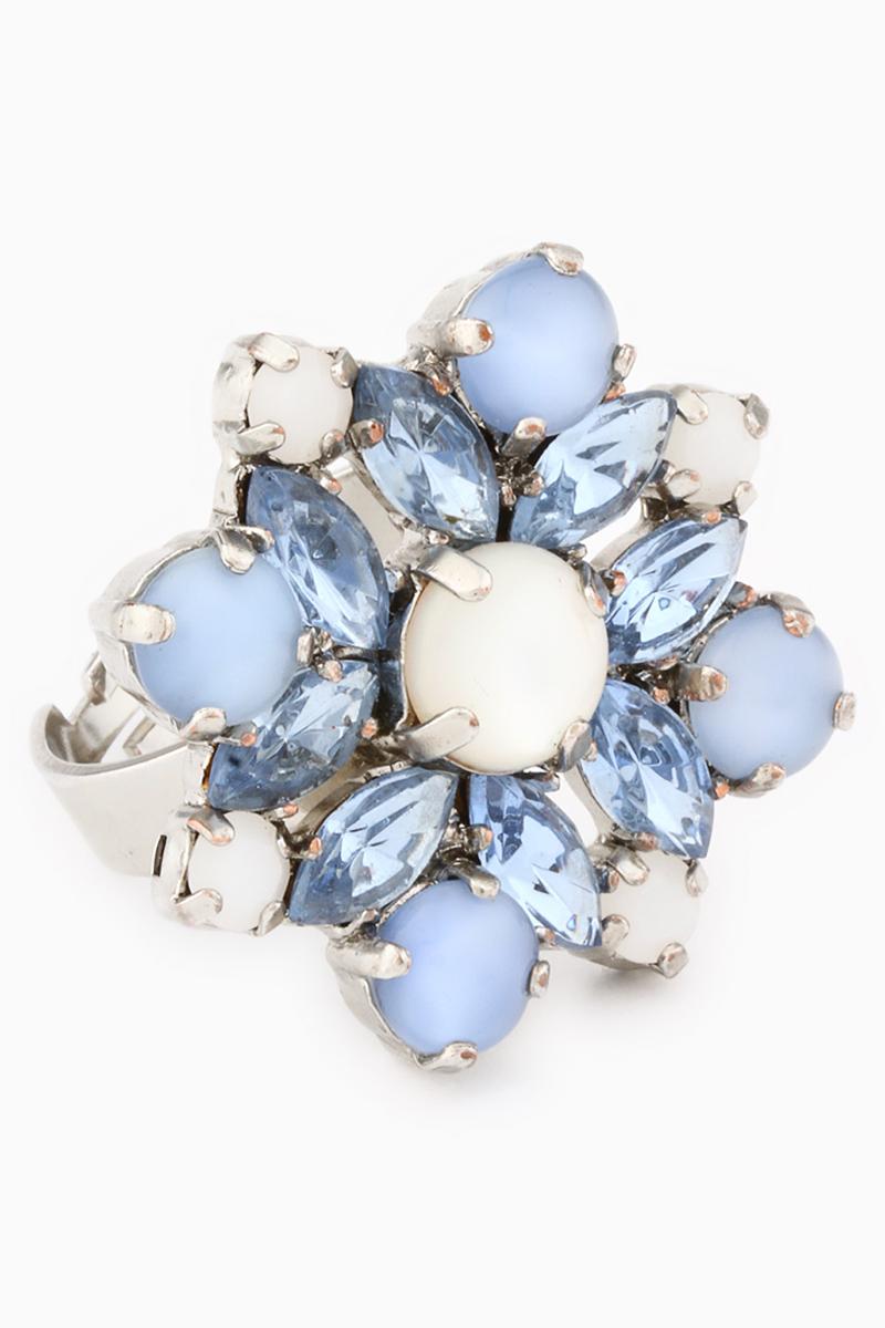 Голубой агат-украшение