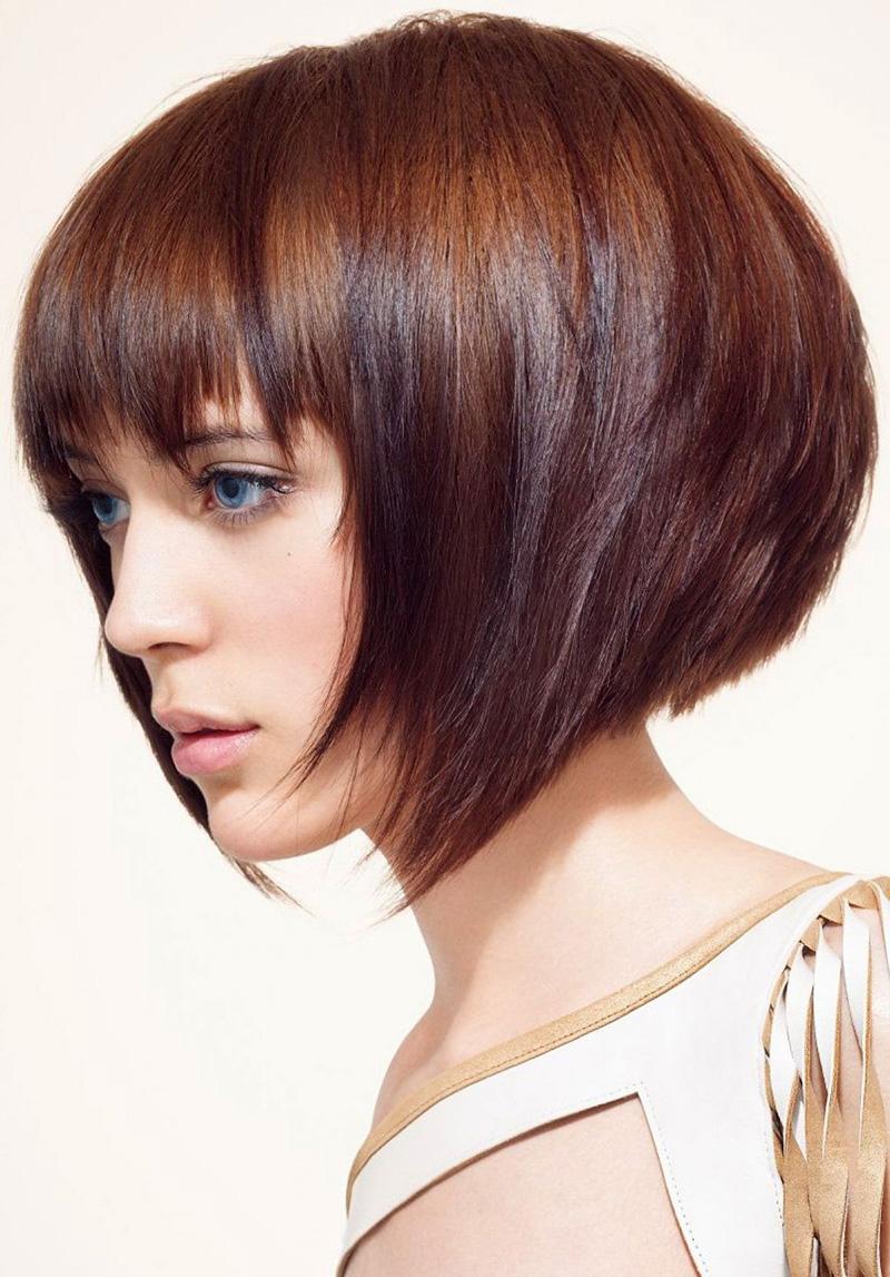 Фото модной стрижки на короткие волосы – каре-боб