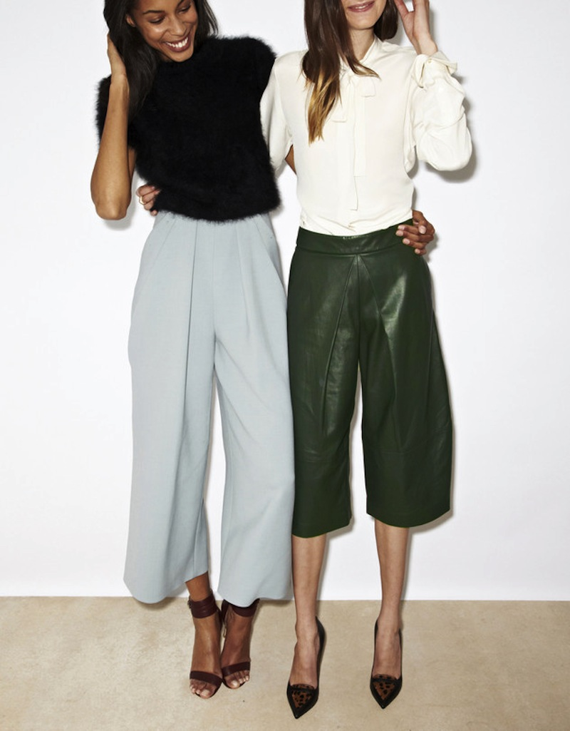 Модные брюки кюлоты – фото новинка сезона