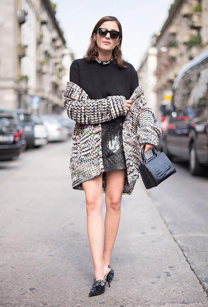 Модный вязаный кардиган - фото новинки