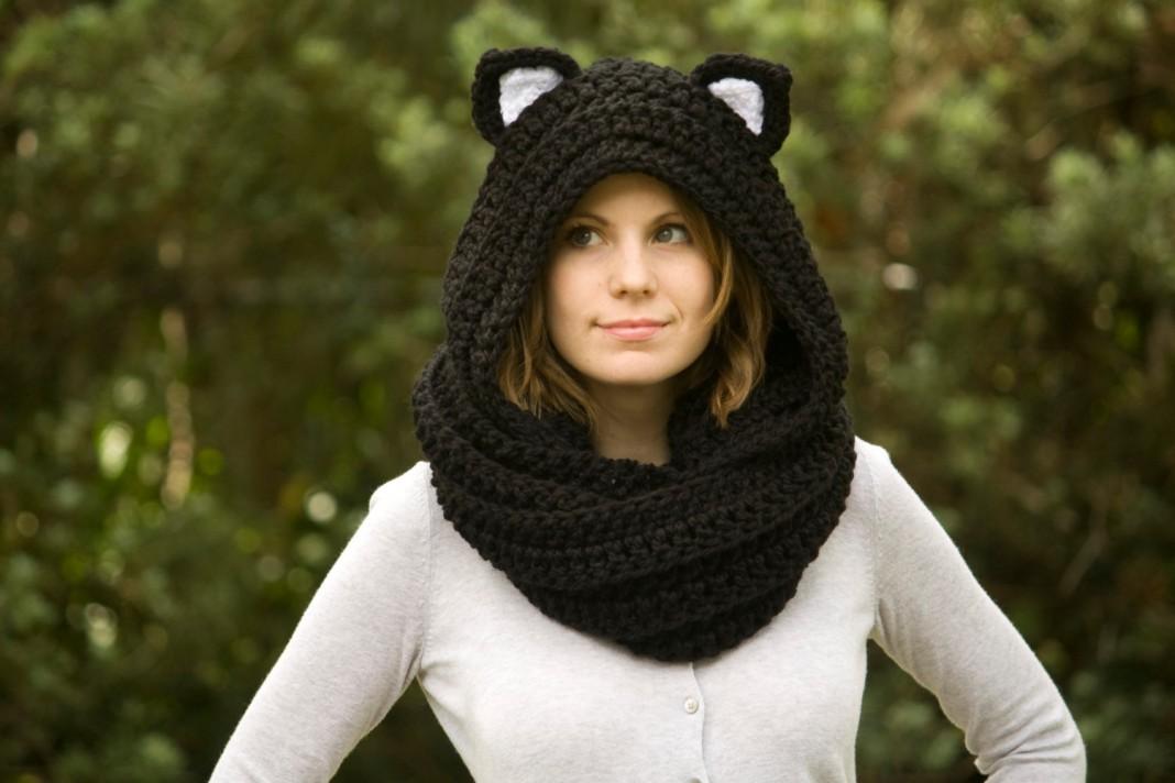 Вязаные шапочки и шарфы своими руками 80