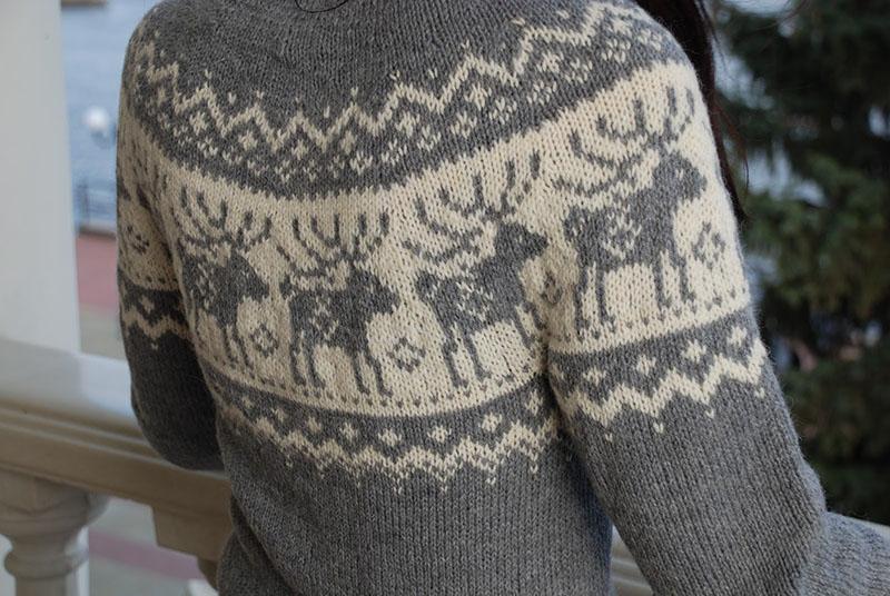 Норвежские узоры на свитерах – олени, елочки