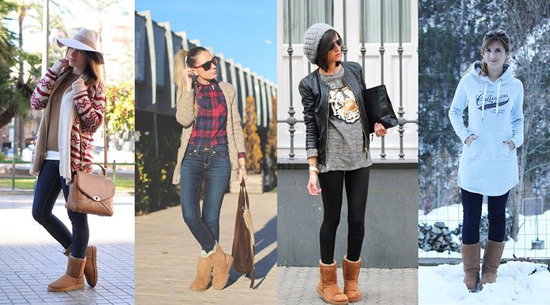 Сочетание уггов с джинсами